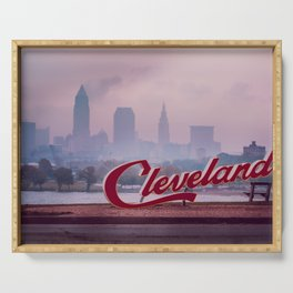 Homesick - Cleveland Skyline Serving Tray