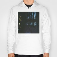 northern lights Hoodies featuring City Lights/ /Northern Lights by Katie Mae Dickinson