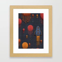 space pattern Framed Art Print