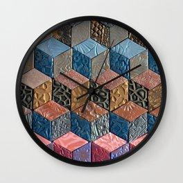 Tumbling Blocks #3 Wall Clock