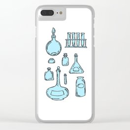 Potions Bottles Design — Apothecary Glass Jars Illustration Clear iPhone Case