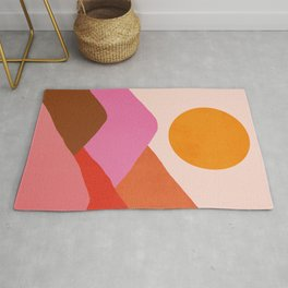 Abstraction_Mountains_SUNSET_Minimalism_008 Rug