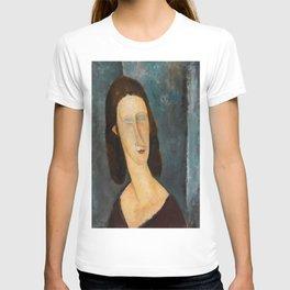 "Amedeo Modigliani ""Blue Eyes (Portrait of Jeanne Hébuterne) (1917)"" T-shirt"