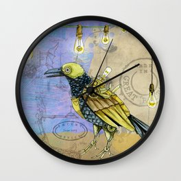 Grunge Wings Wall Clock