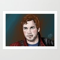 star lord Art Prints featuring Star-Lord  by xKxDx