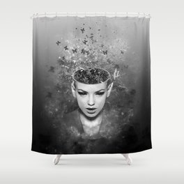 I walk alone to find the way home Shower Curtain