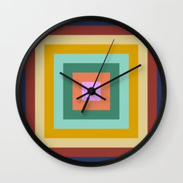 Polychrome Colored Squares Wall Clock