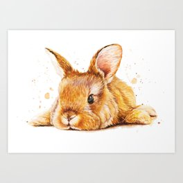 i love rabbit Art Print