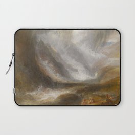 """J.M.W. Turner """"Valley of Aosta - Snowstorm, Avalanche and Thunderstorm"""" Laptop Sleeve"""