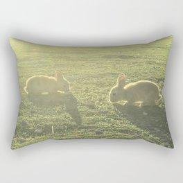 Bunny // Cute Nursery Photograph Adorable Baby Bunnies in the Field Rectangular Pillow