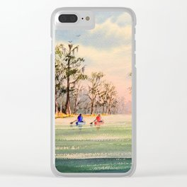 Suwannee River Florida Canooing Clear iPhone Case