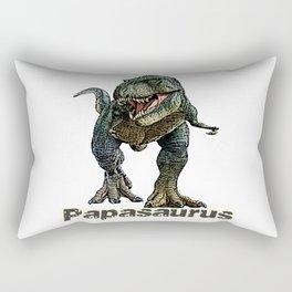 Papasaurus T-Rex Fathers Day Design Rectangular Pillow