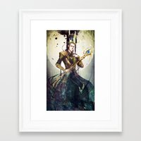loki Framed Art Prints featuring Loki by Mony