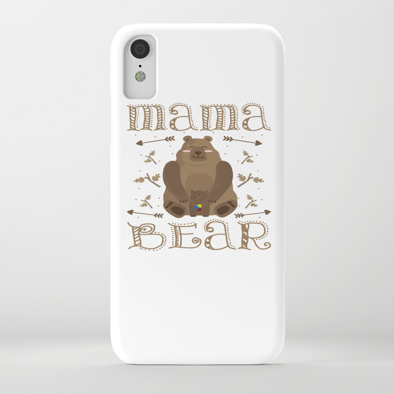 Autism Mama Bear Autistic Child Awareness Day Gift iPhone Case