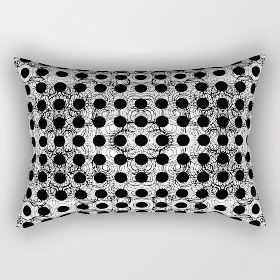 black dot system Rectangular Pillow