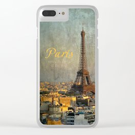 I love Paris Clear iPhone Case