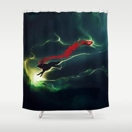 WOLF - Breaking Red Shower Curtain