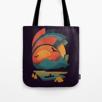 explore Tote Bags featuring Explore by The Child