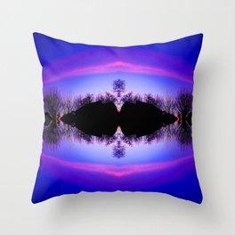 Treeflection IV Throw Pillow