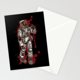 Zombie Astronaut | Horror Galaxy | Halloween Stationery Cards