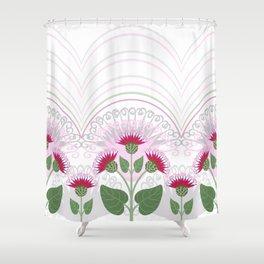 Burdock flowers Shower Curtain