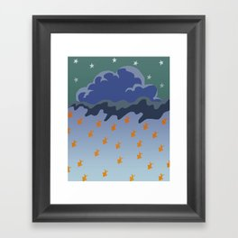 Stars and Fish Framed Art Print