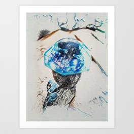 Glacier Pace Art Print