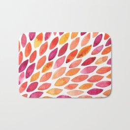 Watercolor brush strokes burst - autumn palette Bath Mat