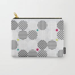 A pop of black and white Carry-All Pouch