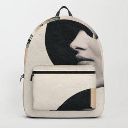 collage art / bird Backpack