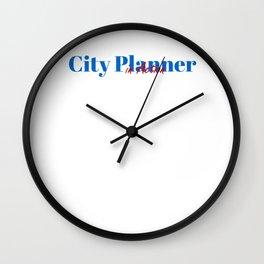 Happy City Planner Wall Clock