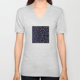 Christmas Snowflakes at Night Unisex V-Neck