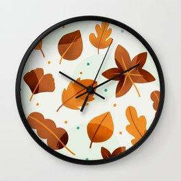 Falling in leaves Wall Clock