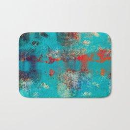 Aztec Turquoise Stone Abstract Texture Design Art Bath Mat