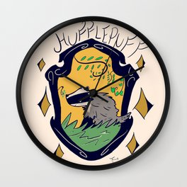 HouseHufflepuff Wall Clock