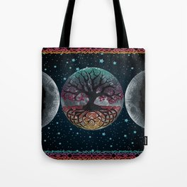Autumn Esoteric Triple Moon V2 Tote Bag