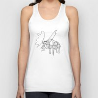 the wire Tank Tops featuring Wire Moose by RoverElk
