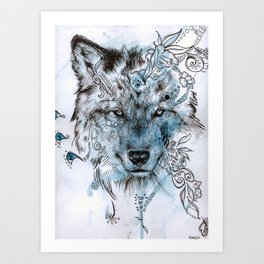 Wolf Dream Art Print
