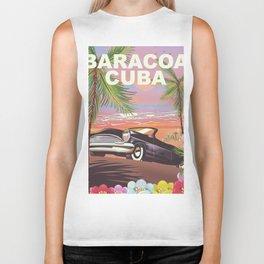 Baracoa, Cuba vacation poster Biker Tank