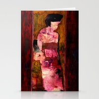 geisha Stationery Cards featuring Geisha by agnes Trachet