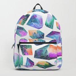 Geometric Crystals Amethyst Geode Pattern 1 Backpack