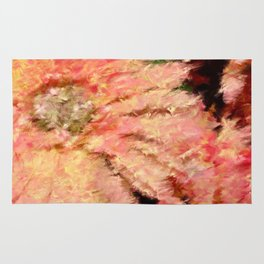 Gerbera Daisy Abstract Rug
