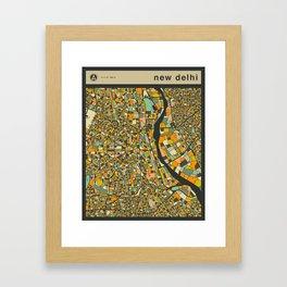NEW DELHI MAP Framed Art Print