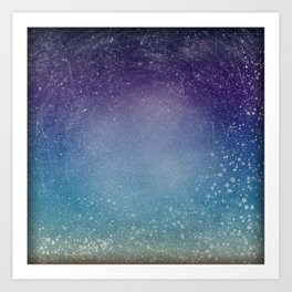 Gradient Night Sky Art Print