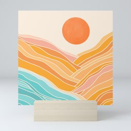 Adventure On The Horizon / Abstract Landscape Mini Art Print