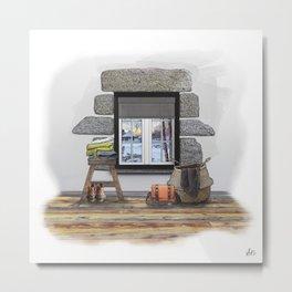 Winter Warm Up Metal Print