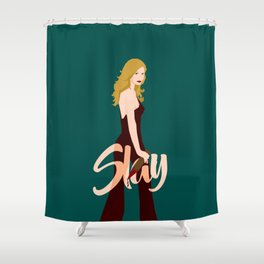 Slay Buffy! Shower Curtain