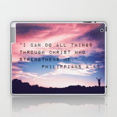 Philippians 4:13 in Nature Laptop & iPad Skin