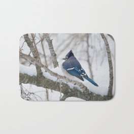 Winter's Cold (American Blue Jay) Bath Mat