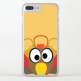 Wobble Turkey Clear iPhone Case